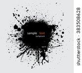 black grunge background with... | Shutterstock .eps vector #383508628