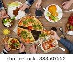 family eating | Shutterstock . vector #383509552