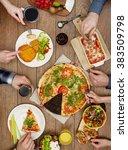 family eating | Shutterstock . vector #383509798