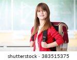 Portrait Of Happy Schoolgirl...