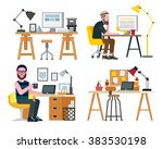 workspace | Shutterstock .eps vector #383530198