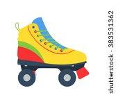 roller skate vector... | Shutterstock .eps vector #383531362