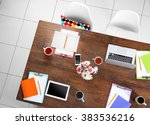 session concept. workplace top... | Shutterstock . vector #383536216