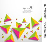 abstract shapes background | Shutterstock .eps vector #383536978
