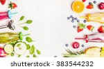 healthy lifestyle background... | Shutterstock . vector #383544232