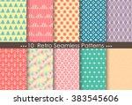 retro patterns  pattern... | Shutterstock .eps vector #383545606