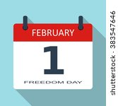 1 february. freedom day. vector ...