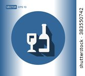 icons wine bottle for web and... | Shutterstock .eps vector #383550742
