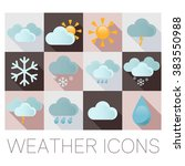 vector image of a weather flat... | Shutterstock .eps vector #383550988