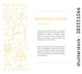 wedding card made in gold line...   Shutterstock .eps vector #383551066