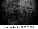 old black background. grunge... | Shutterstock . vector #383551732