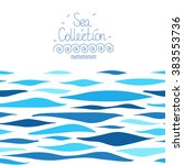 sea background made in vector.... | Shutterstock .eps vector #383553736