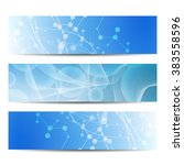 abstract geometric banners...   Shutterstock .eps vector #383558596