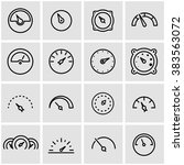 vector line meter icon set. | Shutterstock .eps vector #383563072