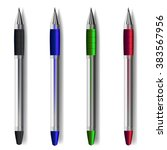 Colored Pens. Vector...