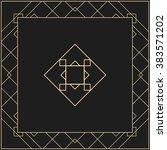 vector geometric frame in art... | Shutterstock .eps vector #383571202