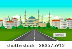 istanbul is a city of contrasts | Shutterstock .eps vector #383575912