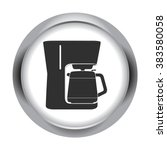 coffee maker machine simple... | Shutterstock .eps vector #383580058