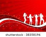 vector silhouettes dancing man... | Shutterstock .eps vector #38358196