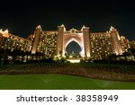Dubai Atlantis Hotel At Night