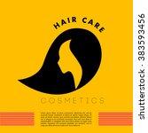 vector simple flat cosmetic... | Shutterstock .eps vector #383593456