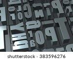 typeface   3d | Shutterstock . vector #383596276