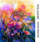 Abstract Flower Watercolor...