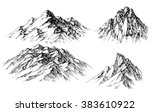 mountain set. isolated mountain ... | Shutterstock .eps vector #383610922