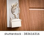 key door real estate rent home... | Shutterstock . vector #383616316