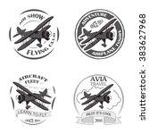 Vintage Airplane Emblems....