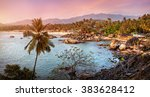 beautiful panoramic view of... | Shutterstock . vector #383628412