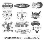 summer surfing day graphic...   Shutterstock .eps vector #383638072