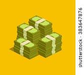 concept of big money. big pile...   Shutterstock .eps vector #383647876