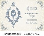 elegant template with pattern ... | Shutterstock .eps vector #383649712