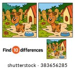 find differences game for... | Shutterstock .eps vector #383656285