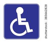 handicap disabled sign | Shutterstock .eps vector #383662828