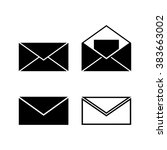 envelope message letter vector... | Shutterstock .eps vector #383663002
