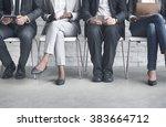 business people meeting... | Shutterstock . vector #383664712