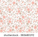 cute pattern in small flower.... | Shutterstock .eps vector #383680192