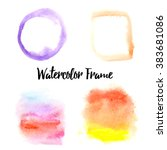 vector watercolors elements.... | Shutterstock .eps vector #383681086