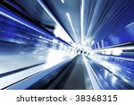 fast moving escalator by motion | Shutterstock . vector #38368315