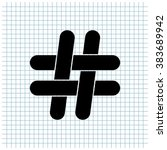 hashtag vector icon | Shutterstock .eps vector #383689942