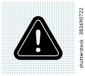 danger sign vector icon | Shutterstock .eps vector #383690722
