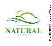logo natural icon element...   Shutterstock .eps vector #383690836