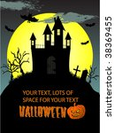 halloween vector background | Shutterstock .eps vector #38369455