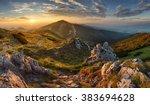 Stock photo slovakia mountain from peak chleb 383694628