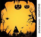 halloween border for design | Shutterstock . vector #383695948