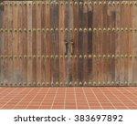 wooden wall texture vintage    Shutterstock . vector #383697892