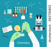 science experiment or chemistry ... | Shutterstock .eps vector #383700802