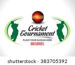 cricket tournament text... | Shutterstock .eps vector #383705392